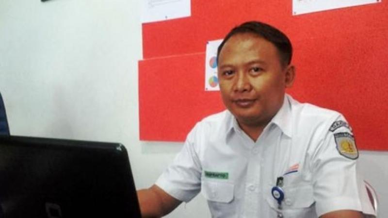 Manajer Humas PT KAI Daop 8 Surabaya, Suprapto. Foto; ryo JNR