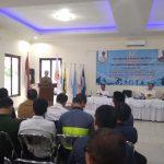 Bupati Majalengka H. Karna Sobahi dalam pembukaan acara Musyawarah Olahraga Kabupaten (Musorkab) Kabupaten Majalengka Tahun 2019