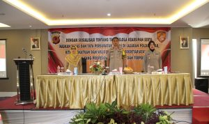 Wakapolda Jabar Brigjen Pol. Dr.Akhmad Wiyagus S.I.K ,M.S.I.,M.M,. didampingi oleh para Pejabat Utama Polda Jabar.